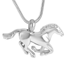 XWJ8669 Galloping Horse Memorial Urn Necklace Pet/Human Ashes Casket Cremation Urns Pendant Stainless Steel Jewelry Keepsake luxury high quality stainless steel elegant angel cremation urns human pet memorial keepsake urn jewelry