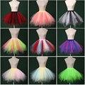 2017 Nuevo Multi Color Señora Girls Underskirt Crinolina Enaguas De Tul De Novia Corto Nupcial de Dance Party Tutu Falda de La Enagua