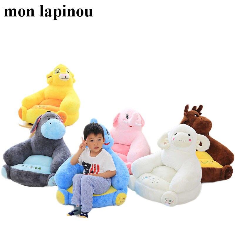 dinosaur plush toys stuffed animal soft doll kids chair animal shape sheep ,lion,elk,elephant plush sofa gift for children plush toya elephant plush lion stuffed and soft animal toys