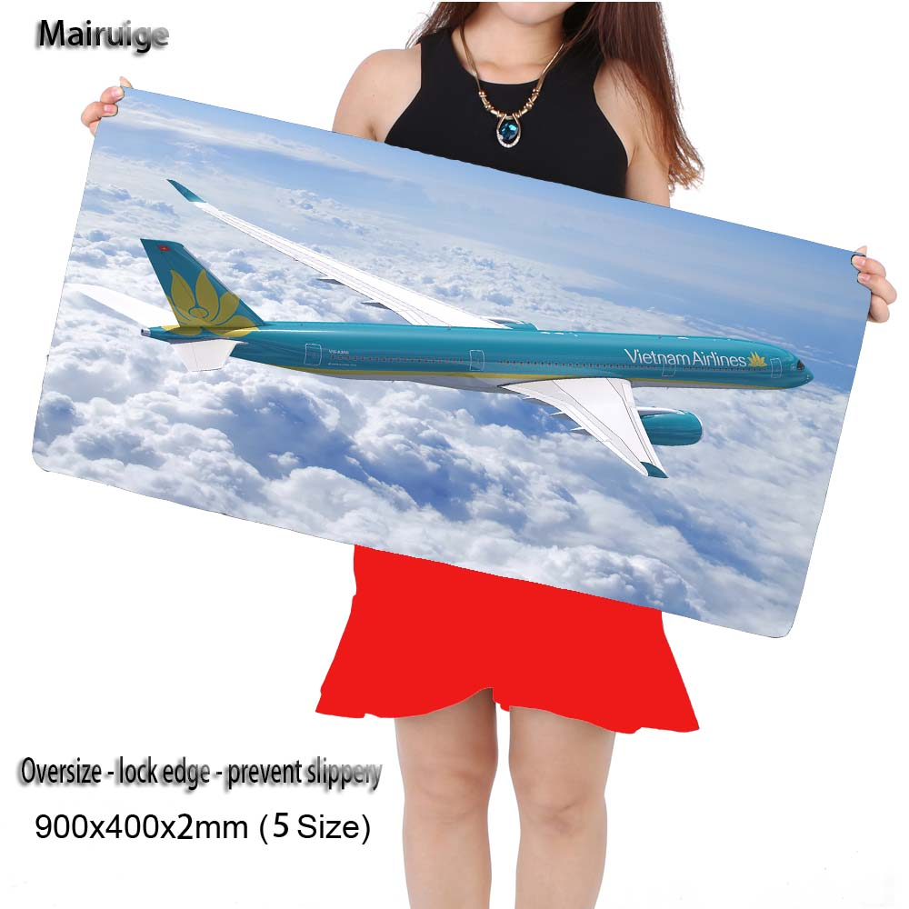 Mairuige Shop Free Shipping Plane Large Mouse Pad 900x400 Pad Notbook Computer Mousepad Best Smouse Mats for Cs Go DOTA2 Gift