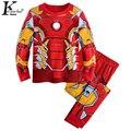 KEAIYOUHUO Детская Одежда 2017 Весна Супермен Hero Мальчики Одежда Набор С Длинным Рукавом Детская Одежда Спортивные Костюмы Костюм Для Детей