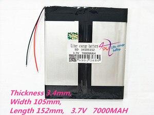 Image 1 - 1 pcs 34105152 3.7 V 7000 mAH 3476105*2 (פולימר ליתיום יון סוללה) נטענת עבור מחשב לוח 8 אינץ 9 אינץ 10 אינץ