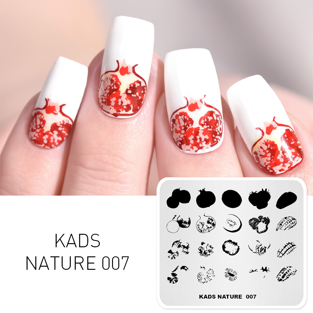 Nail Art Popular Brand Kads New Arrival Min Stamp Lovely Cartoon Child And Number Image Template Stencil Beauty Tools Nail Art Image Stamp