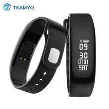 Teamyo умный Браслет Фитнес трекер Часы Приборы для измерения артериального давления Пульс сердечного ритма Мониторы смарт-браслет с Шагомер будильник