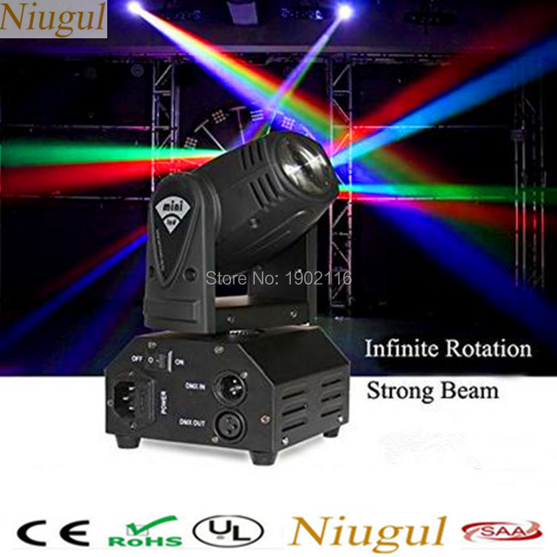 10W Mini LED Beam Moving Head Light /RGBW LED Spot Light /Christmas Party DJ Disco Lighting/DMX512 Beam Stage Light /Chandelier tiptop tp l682 crazy beam 40 fusion led moving head beam light 40 watt quad rgbw with led ring dmx512 for stage light disco rgb