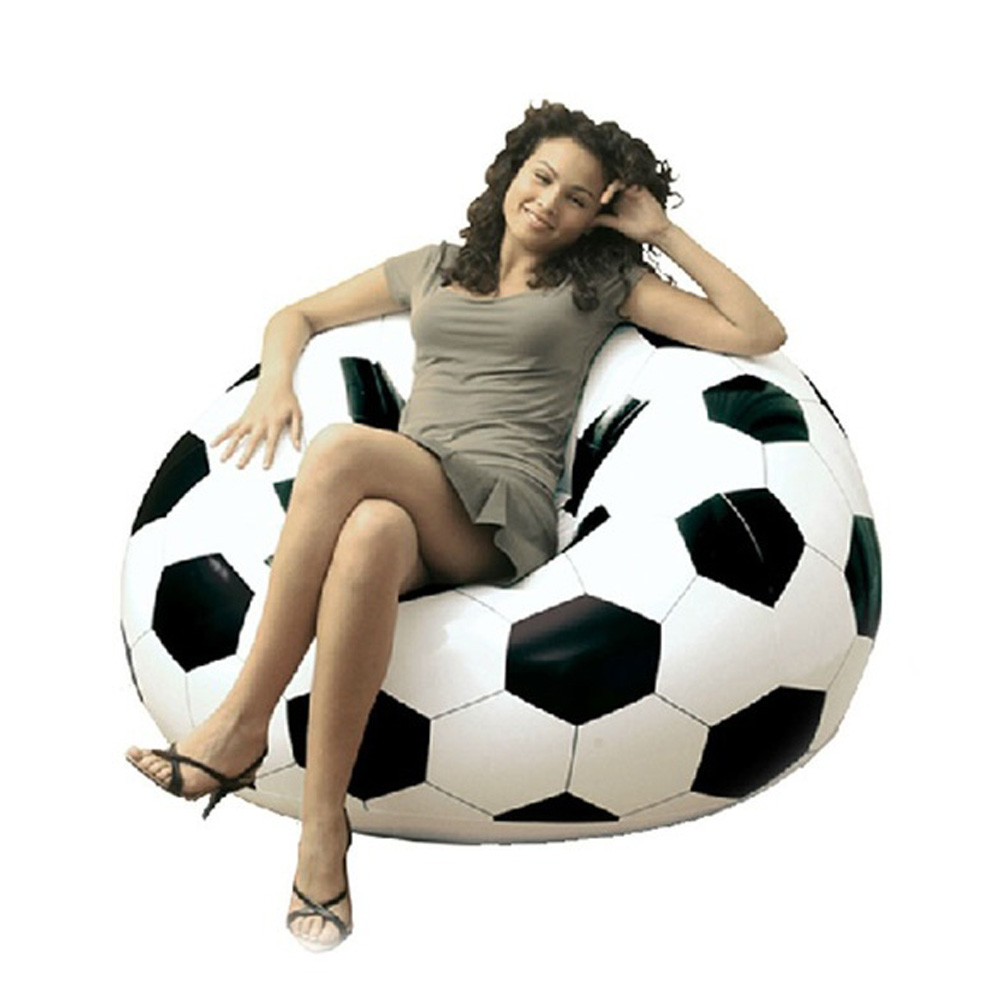Waterproof PVC Inflatable Sofa Adult Football Self Bean Bag Chair Portable  Outdoor Garden Corner Sofa Set