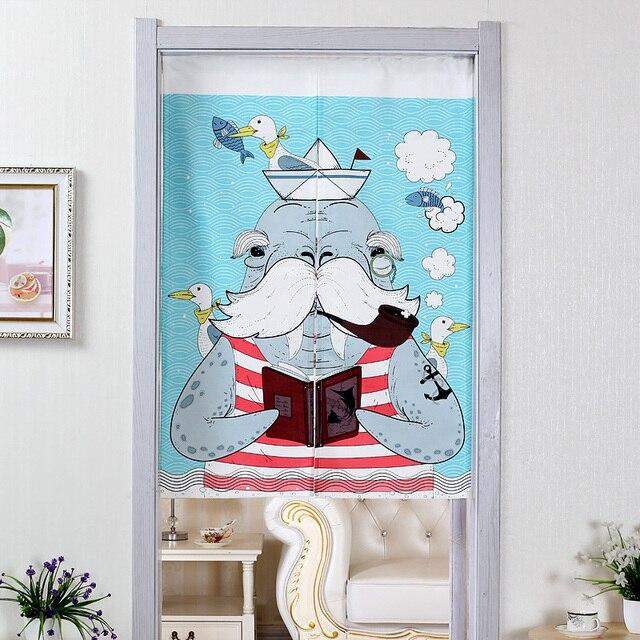Sailor Walrus Door Curtains 3