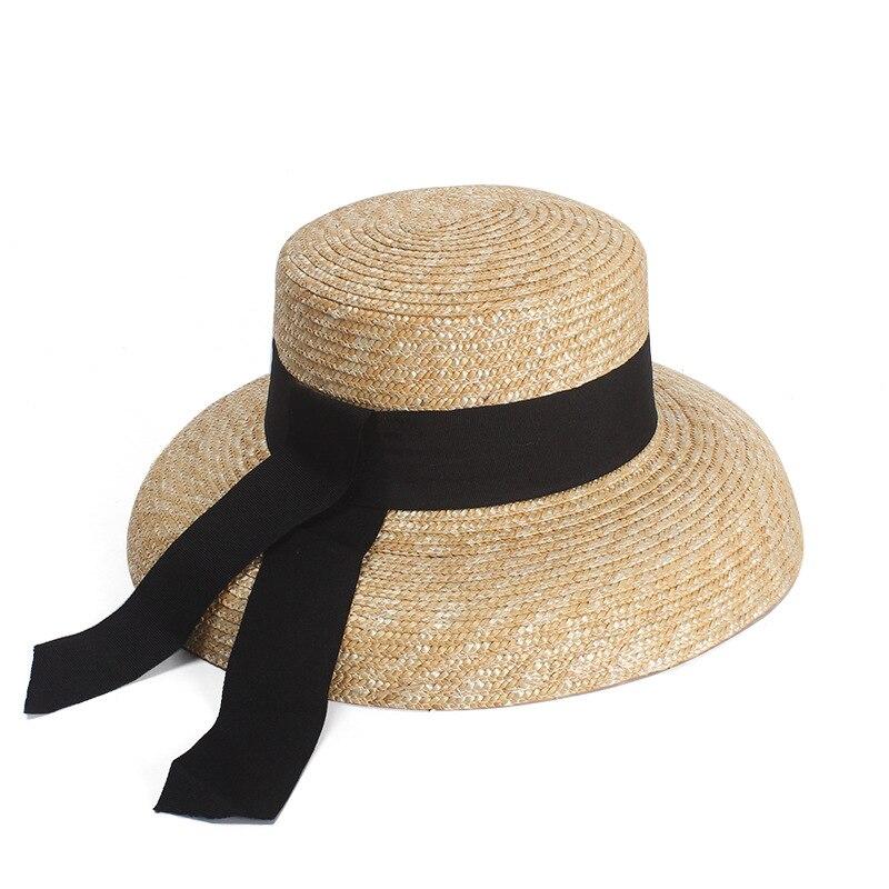 Brand New Solid Color Wide Brim Straw Summer Beach Sun Hat