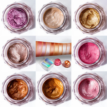 Pudaier Pallete Completa Shadow Powder Pigment Shiny Eye Body Glitter Holographic Single Party Beauty Makeup