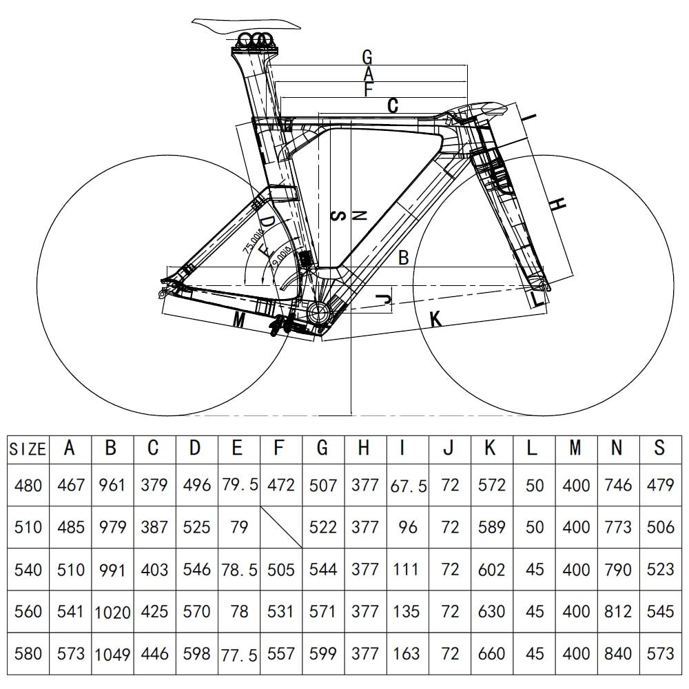 Full Carbon TT Bike Rahmen Zeit Trial Bike Triathlon Fahrrad ...