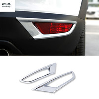 2pcs/lot ABS chrome for 2015 2016 2017 2018 Mazda CX 3 CX3 CX 3 car accessories car stickers rear Fog lights protective cover