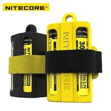Nitecore NBM40 سيليكون حامل صندوق تخزين بطارية نقالة مجلة 18650 بطارية