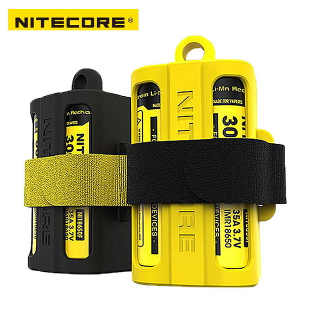 Nitecore NBM40ซิลิคอนกล่องเก็บแบบพกพาแบตเตอรี่18650แบตเตอรี่
