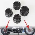 Nuevo negro CNC aluminio RC delantera + trasera eje cubierta Kit tuerca para Harley Sportster XL 883 1200 envío gratis
