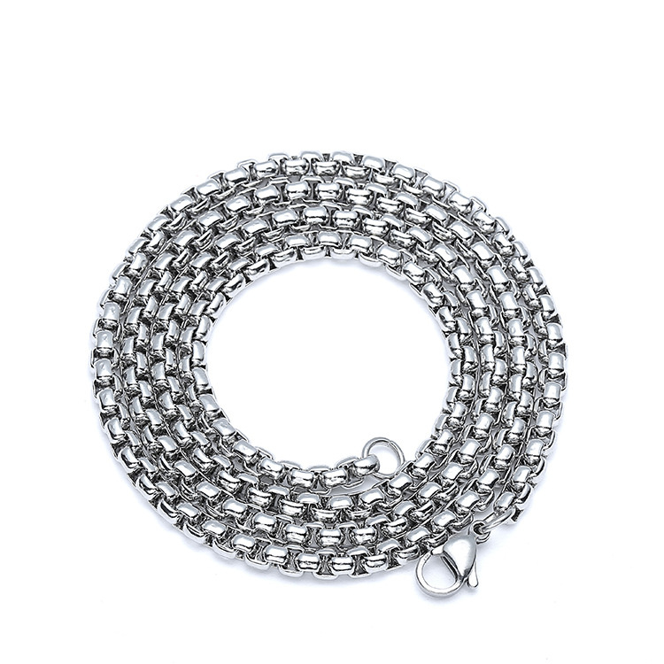 Never Fade 316 Stainless Steel Men Popcorn Chain Necklace Jewelry Man Necklace For Male Accessories Hand Cuff