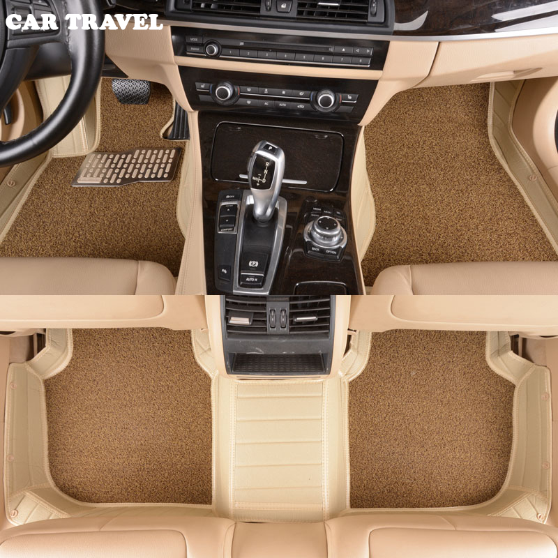 Custom car floor mats for Volkswagen All Models vw passat b5 6 polo golf tiguan jetta touran touareg car styling auto floor mat toilet time floor golf game set