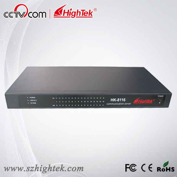 HighTek HK-8116A Industrial 16 ports RS232 to Ethernet Converter/Ethernet to Serial Device Server hightek hu 03 universal usb to rs485 422 converter adapter