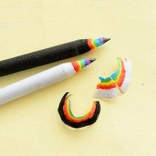 2 pc/set kawaii papelaria hb arco-íris lápis desenho escrita lápis de papel lápis material escolar fonte para o presente da criança