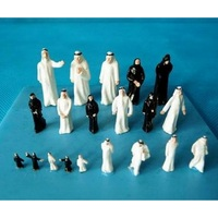 20 Pcs Set The Arabs Model Building Scenery 1 75 Sand Table Model People 2 5CM