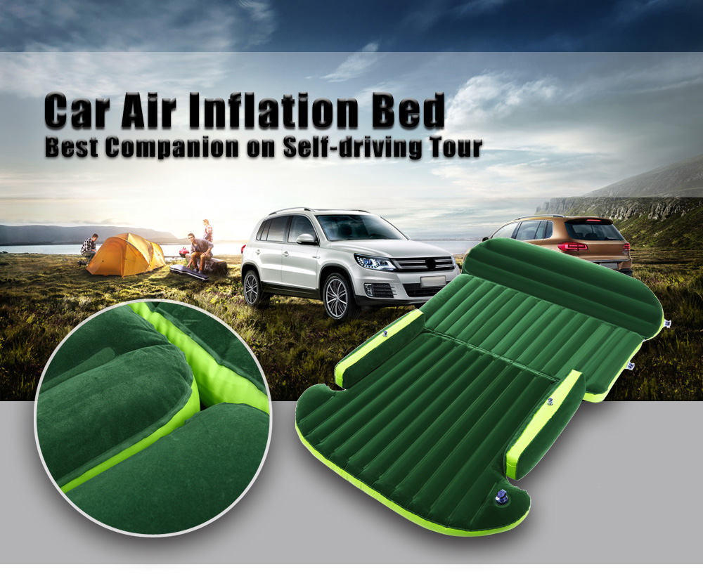 Universal Auto Back Seat Cover Car Air Inflation Mattress Bed Drive Travel Car Inflatable Bed Wave Design With Air Pump drive travel deflatable air inflation bed mattress suv camping pvc material car seat cover cushion with car electric air pump