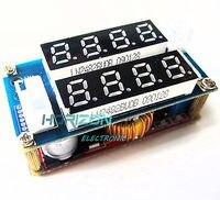 10PCS 5A Adjustable CC/CV Step Down charge Module LED Panel Voltmeter Ammeter