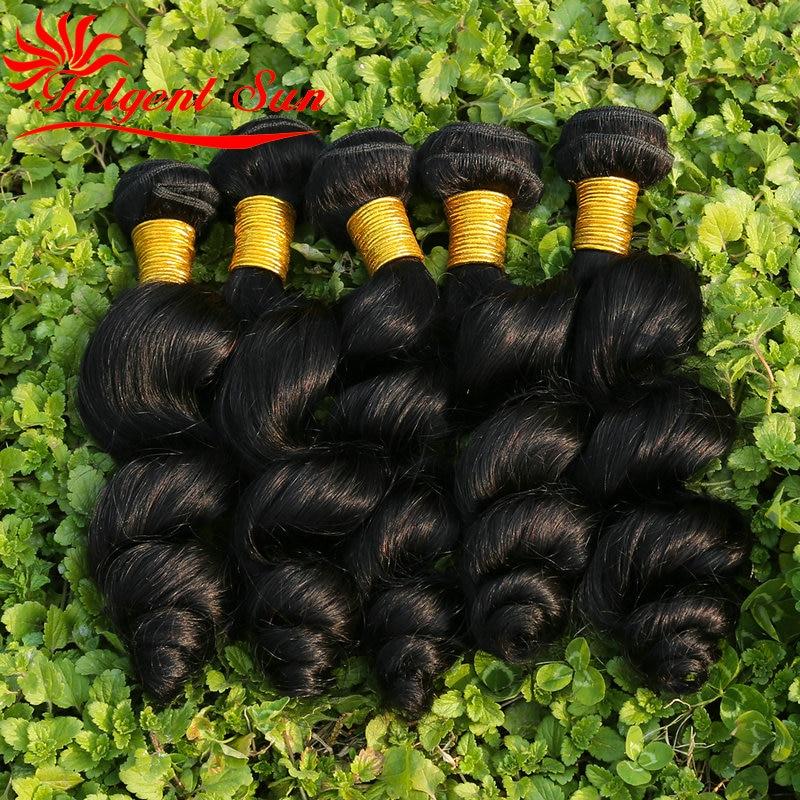 7A grade Unprocessed Brazilian Loose Wave 5 Bundles Brazilian Virgin font b Hair b font Loose