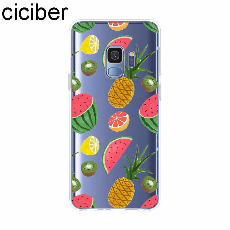 Ciciber ananas dla Samsung Galaxy S 5 6 7 8 9 Edge Plus dla Galaxy C 7 5 9 10 PRO Plus miękki silikonowy futerał na telefon przezroczysty TPU