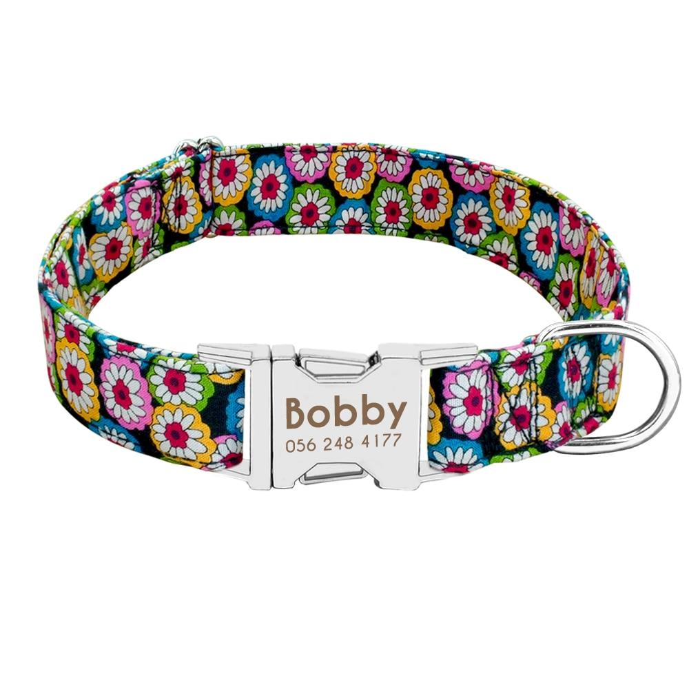 HTB1Z2z3XzvuK1Rjy0Faq6x2aVXaJ - Dog Collar Personalized Nylon Pet Dog Tag Collar Custom Puppy Cat Nameplate ID Collars Adjustable