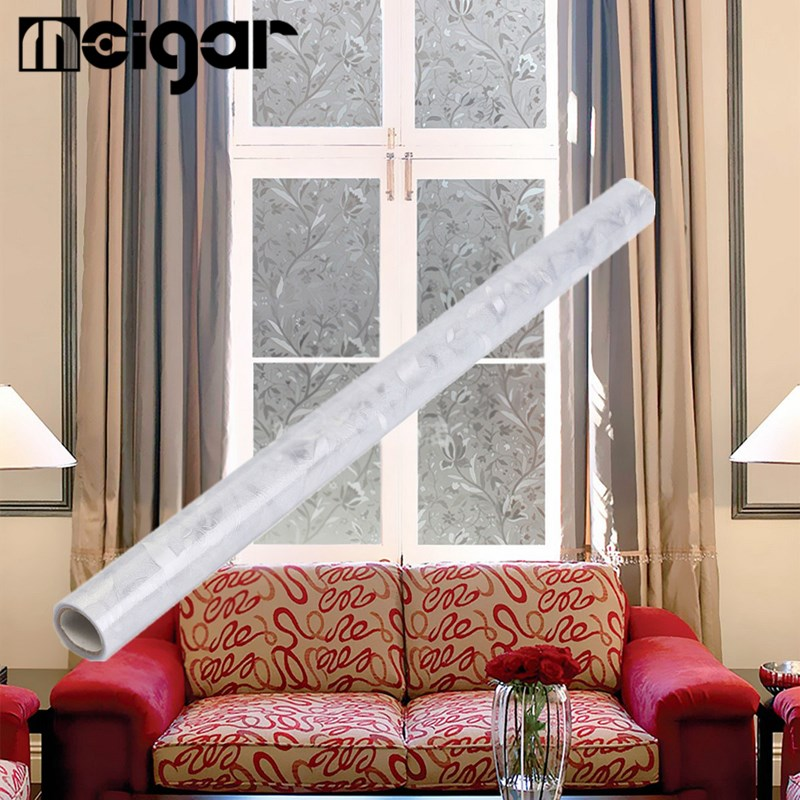 frosted stick waterproof pvc privacy glass window film modern new home bedroom bathroom office decorative films