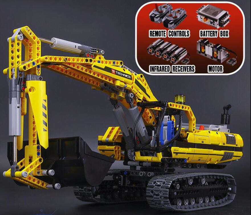 20056 20007 <font><b>23002</b></font> Technic series excavator Model Building Kit Blocks Brick Compatible Toy For children as Gift 8043 model image