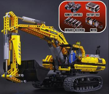 Lepinblocks 20056 20007 23002 Technic series excavator Model Building Kit Blocks Brick Compatible legoin Toy Gift  8043 model