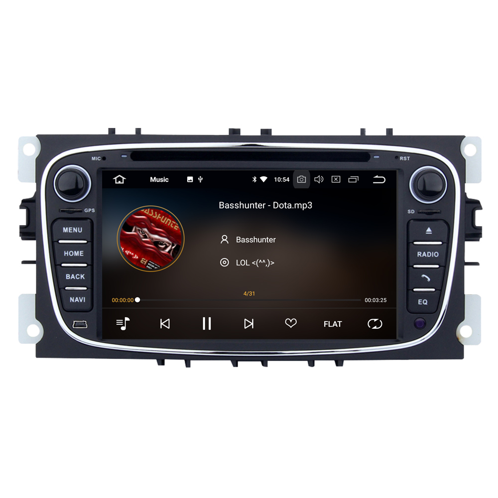 RoverOne Android 8.0 Autoradio Bluetooth pour Ford pour Focus 2 pour Mondeo Kuga s-max c-max voiture DVD Radio stéréo GPS Navigation