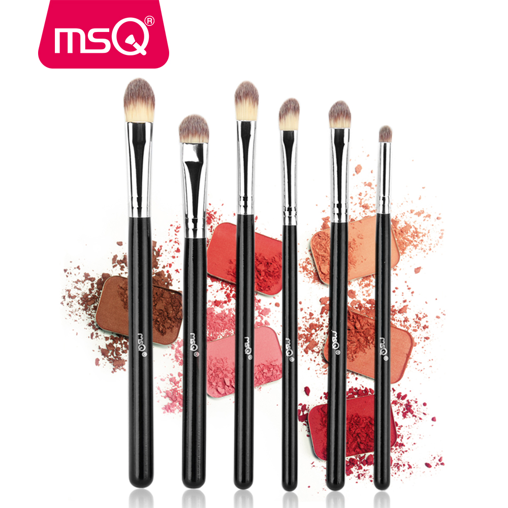 MSQ 6PCS Professional Eyeshadow Makeup Brushes Set Eye Brush Eye Shadow Blending Soft Synthetic Hair Make Up Brush For Beauty g056 professional makeup brush weasel hair ebony handle make up eyeshadow brushes cosmetic tool angled eye nose shadow brush