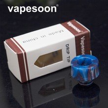 VapeSoon  510 Resin Drip Tip For E Cigarette 510 Thread Atomizer Such AS MELO 3 MINI TFV4 MINI Retail Package