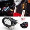 Universal Aluminum 20W Motorcycle LED Headlight Headlamp Motorbike Driving Fog Spotlight For Yahama Honda Benelli Suzuki