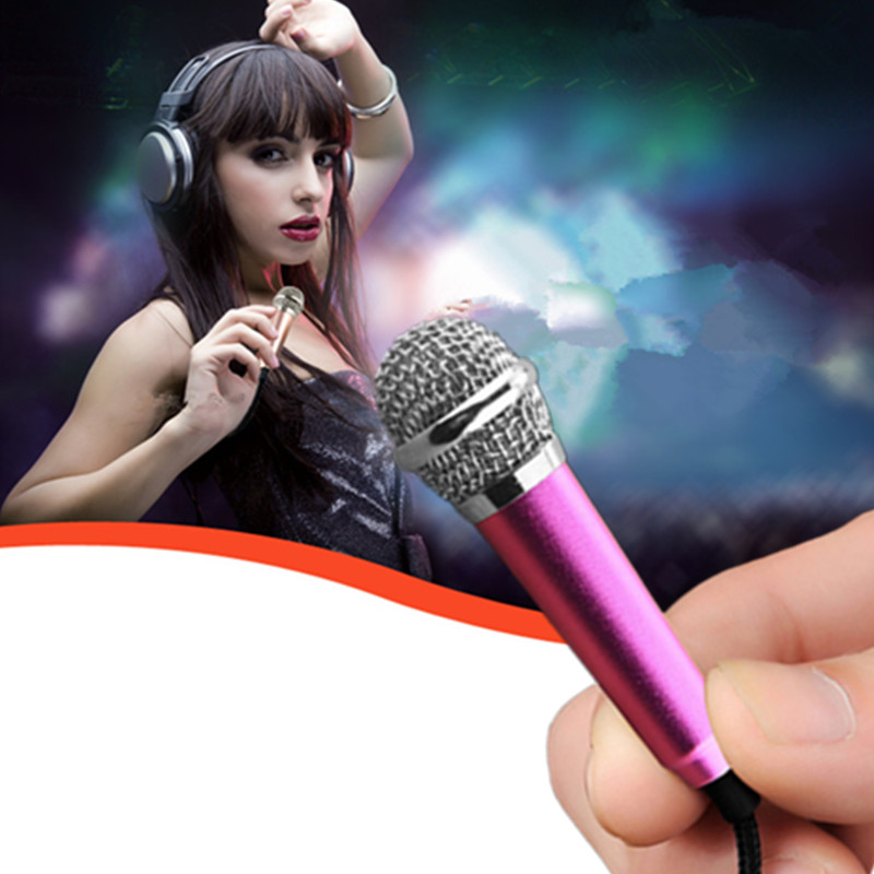 Portable Mini Karaoke HD Microphones Singing Music Chat Stereo Condenser Mic For Mobile Phone Laptop PC Smartphone Android IOS