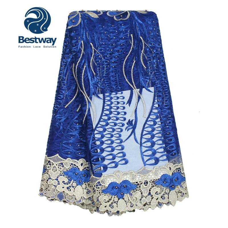 Bestway Αφρικανική Υφασμάτινη Lace Beaded Lace - Τέχνες, βιοτεχνίες και ράψιμο - Φωτογραφία 3