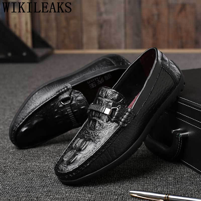 brand party wedding dress shoes slip on casual men loafers spring autumn mens moccasins shoes genuine leather men's flats shoes