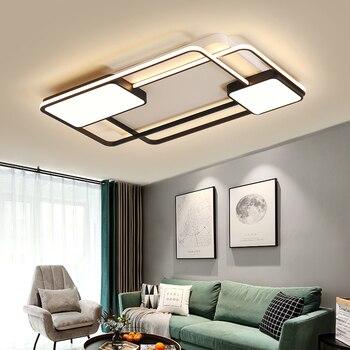 כיכר מודרני LED תקרת אורות סלון חדר שינה מחקר Lamparas דה Techo מקורה plafon LED תקרת מנורת תאורה קבועה