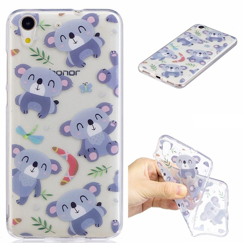 coque huawei y6ii silicon éléphants