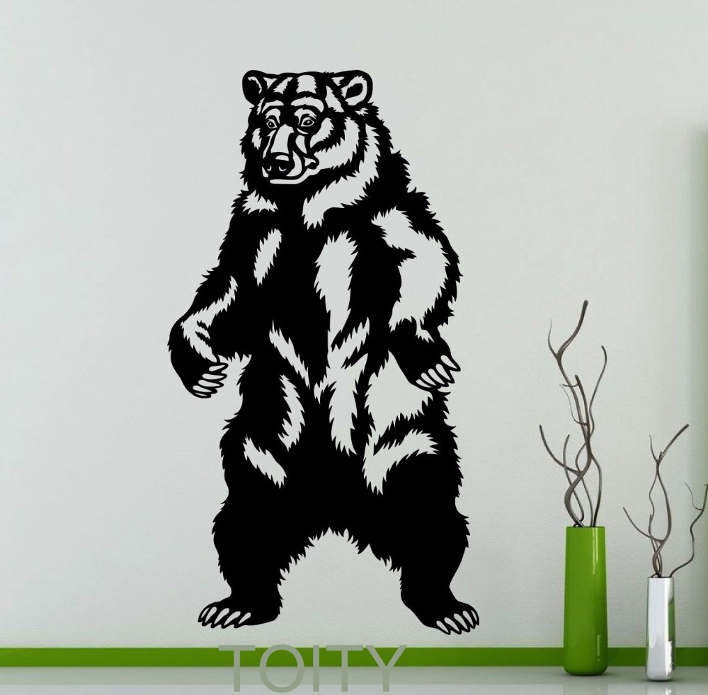Bear Standing Wall Sticker Grizzly Wild Animal Vinyl Decal