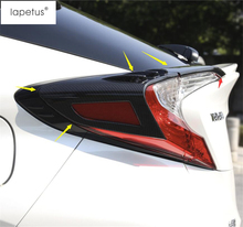 Lapetus Accessories Fit For Toyota C-HR CHR 2016 2017 2018 2019 Rear Trunk Tailgate Lights Lamp Eyelid Molding Cover Kit Trim