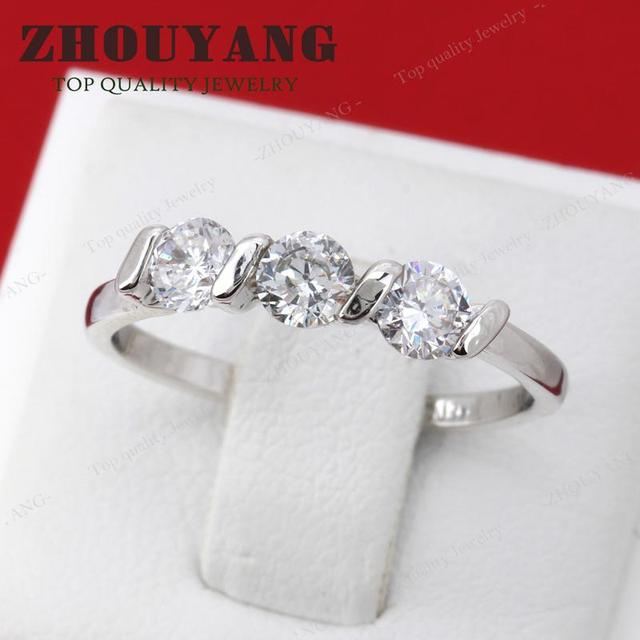 Top Quality Concise Crystal Ring Rose Gold Color Austrian Crystals Full Sizes Wholesale R067 R068 3