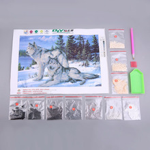 2017 Hot DIY Diamonds Crystal Point Drill Diamond Painting Cross Stitch Kits Diamond Mosaic for Your Bedrooom Home Decoration