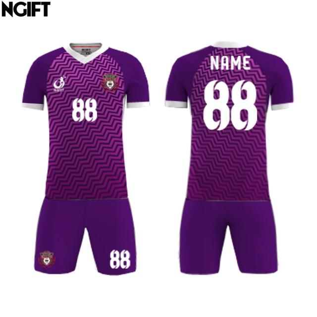 7387be134 Ngift Men Women soccer jerseys set sublimated football team sports kit  shirts shorts