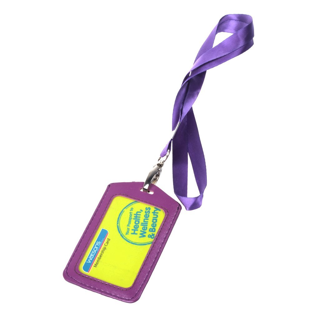 Horizontal Business Working ID Credit Card Badge Holder Clear Pouch Case 5PCS