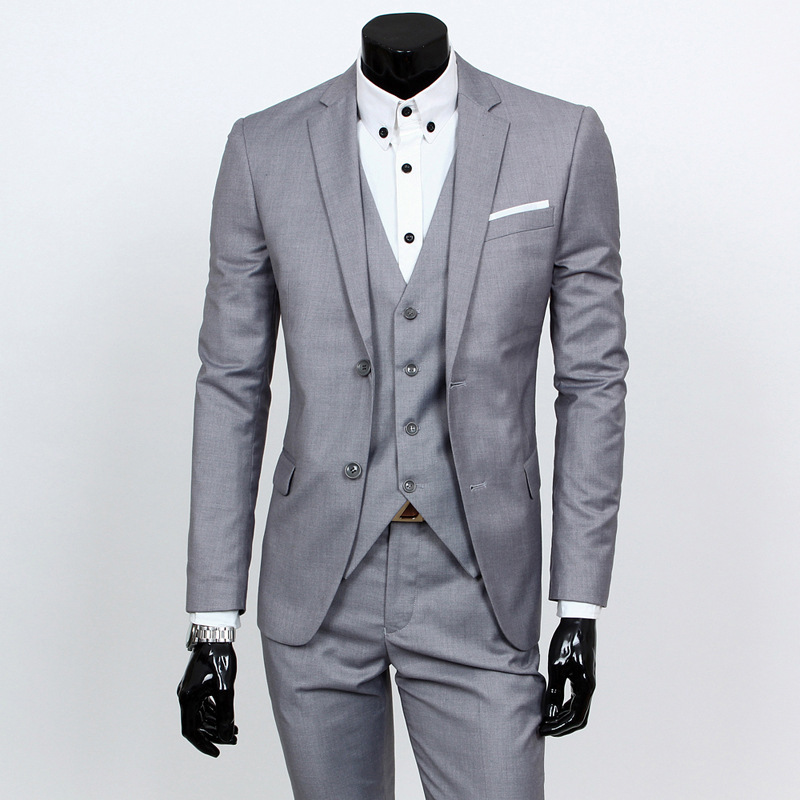 Best Selling Custom Made Formal Groom Wear Red/White/Black Men Wedding Suits Prom Tuxedo Men Suits 3 Piece (Jacket+Pants+Vest)