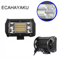 ECAHAYAKU New 5 Inch 72w Led Work Light Bar Flood Lamp Driving Light Offroad Lights 12V
