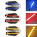Un Par de Dirección Fender Side Lamp de luz Venta Caliente DC12V Forma de la hoja Auto Del Coche Luces LED de Marcador Lateral señal de Vuelta luces