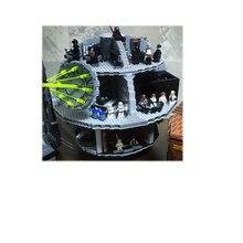 05063 4016 шт. натуральная Звездные Войны Силы разбуди UCS Звезда смерти Строительные блоки Кирпич подарки, совместимые 75159 игрушки Лепин